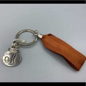 Handbags - Silver Heart Initial M Bag Charm or Keychain